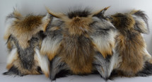 Real Genuine Natural Silver Red Cross Fox sections Fur Pillow new  made in usa authentic fur cushion