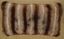 Real Rex Rabbit Pillow Dyed Brown Chinchilla