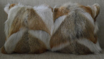 Real Coyote Fur Pillow new made in  USA authentic  cushion a