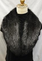 Real Black Beaver Fur Collar