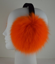 Real Orange Fox Fur Earmuffs