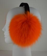 Real Orange Fox Fur Earmuffs