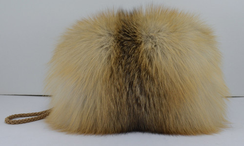 Real Golden Island Fox Hand Muff