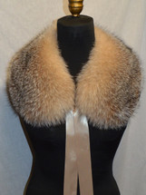 Real Crystal Fox fur Collar
