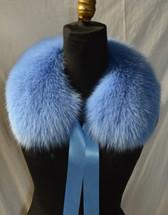 Blue Fox Fur Collar