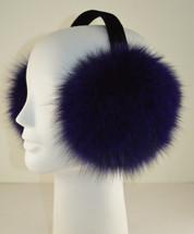Fox Fur Earmuffs Purple