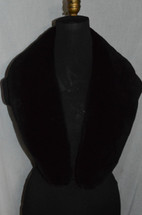 Real Black Sheared Beaver Collar