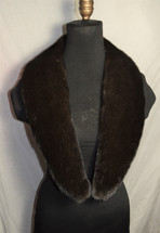 Real Mahogany Mink Fur Collar