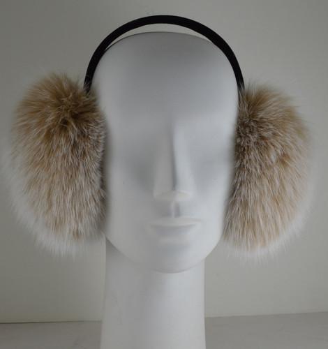 snow top fox fur earmuffs