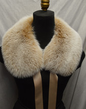 Real Snow Top Blush Fox Fur Collar