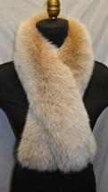 Real Fox Fur Snow Top Blush Scarf