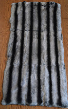 Real Rex Rabbit Fur Throw Rug Plate
