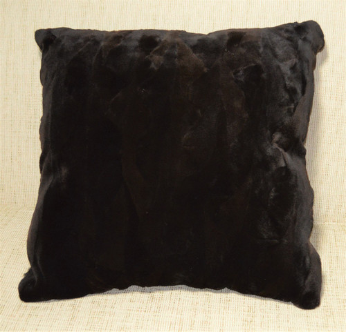 Real Brown Mink Fur Sections Sheared Pillow