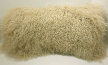 Mongolian lamb fur Pillow Beige New cushion  USA