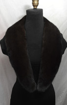 Real Ranch Brown Mink fur collar