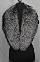 Real Silver fox fur collar