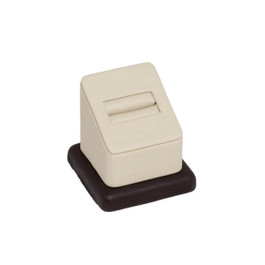 Two Color Leatherette Single Ring Slot Stand  - 1-7/8""