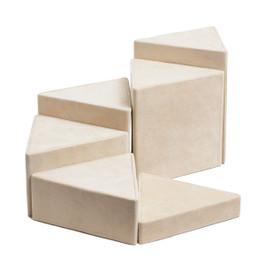 Suede Triangle Riser Set - 6 Piece