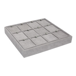 Stackable Suede Tray for Pendants - 12 Pieces