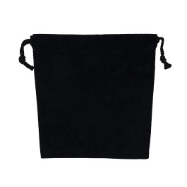 Suede Drawstring Pouch - Large