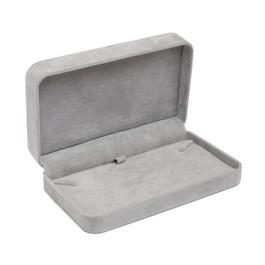 Round Corner Suede Necklace Box