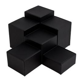 Leatherette Square Riser Set - 6 Piece