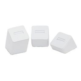 Leatherette Square Ring Tower - 3 Piece Set
