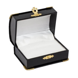 Double Ring Box with Gilt Trim