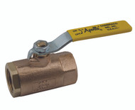 1 inch Ball Valve, Threaded, 2-Piece, Std. Port, Bronze, 600 CWP     part #: 70-105-01-HC  includes hose cap and chain