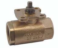 """BRONZE STANDARD PORT BALL VALVE W/ ACTUATOR READY ISO MOUNTING PAD - 2"""" Part Number: 71-AR8-64"""