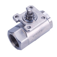 "STAINLESS STEEL STD. PORT BALL VALVE W/ ACTUATOR READY ISO MOUNTING PAD - 3/4"" Part Number: 76-AR4-64"