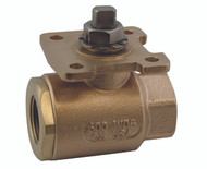 "BRONZE FULL PORT BALL VALVE W/ ACTUATOR READY ISO MOUNTING PAD - 1/2"" Part Number: 77-AR3-64"