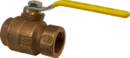 "Bronze Full Port Ball Valve - 1/2"" Part Number: 77C-103-27A"