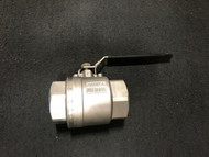 """Stainless Steel Threaded Ball Valve - 1.5"""" Part number: T2150444R9L0"""