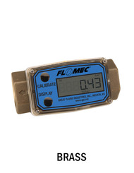 "G2 Series Precision Turbine Meter - Brass - 0.5"" - Part Number: G2B05N43GMC"