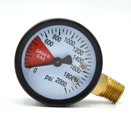 "This is a replacement gauge for a CO2 regulator so you know how much you have left in the tank.  1/4"" NPT fitting."