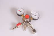 Chrome CO2 Dual Gauge Regulator