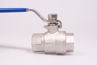 "Stainless Steel Full Port 1/2"" 316 Ball Valve 2 pc"