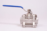 "Stainless Steel Full Port 1/2"" 304 Ball Valve 3 pc"