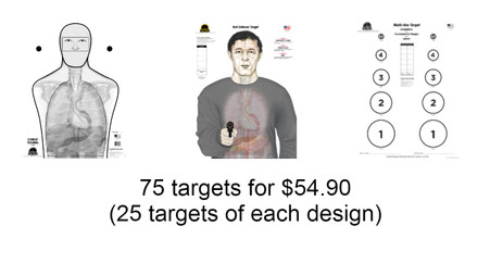 """25 targets of the *new* Self-Defense """"Combat Training"""" Target 25 targets of the Self-Defense """"Armed Threat"""" Target 25 targets of the Multi-Use Competition Target"""