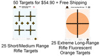 Fall Package #2 - 50 Targets - 2 designs + Free Ship