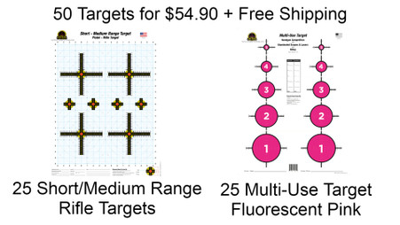 Fall Package 3 - 50 Targets - 2 designs + Free Ship