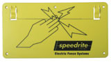 Speedrite Electric Fence Warning Sign 10 Pack