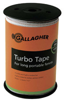 Gallagher 1/2 Inch Wide Turbo Tape White 1312ft  for Long Distances