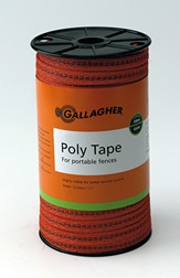 Gallagher 1/2 Inch Wide Poly Tape 656ft  Orange or White