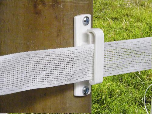Wood Post Wide Tape Insulator