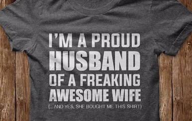 a1065643 I'm a proud husband of a freaking awesome wife T-Shirt