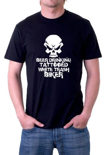 Beer drinking biker T-Shirt