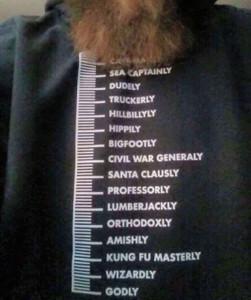 Beard Measurement Scale T-Shirt