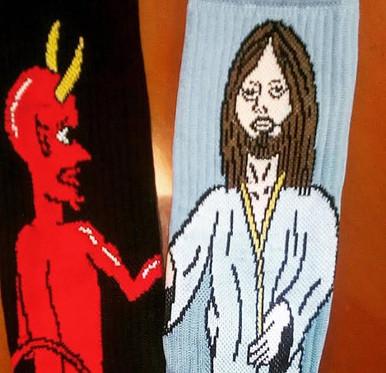 Jesus and Devil Socks